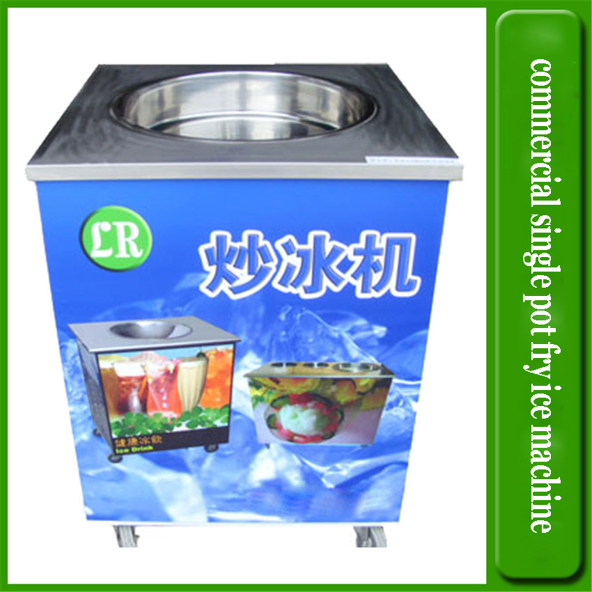 16KG/H Ice Pan machine,Fried ice cream , 37*6cm one pan flat fry ice cream machine,LR-A23 Commercial ice cream roll machine full stainless steel one pan fried ice cream roll machine pan fry flat ice cream maker yoghourt fried ice cream machine