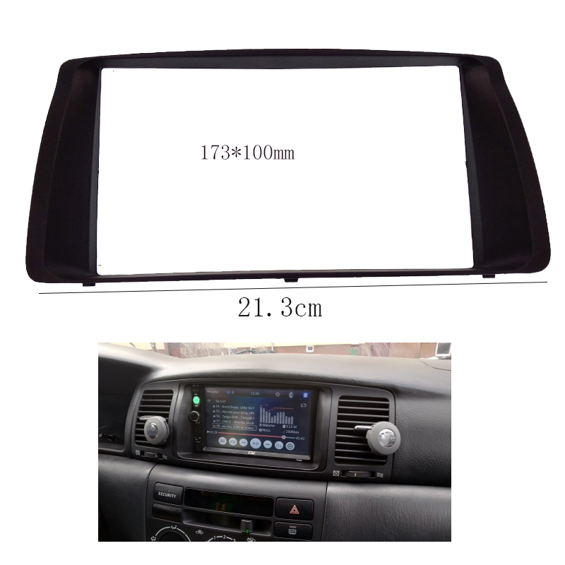 2din car panel radio fascia fit for toyota corolla 2003. Black Bedroom Furniture Sets. Home Design Ideas
