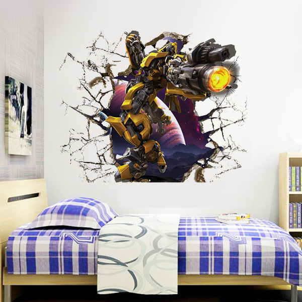 Transformers Superhero D Wall Stickers For Kids Rooms Decoration - Superhero wall decals for kids rooms
