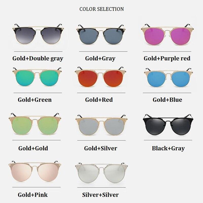 Retro Round Cat Eye Sunglasses Men Women Designer Eyewear Metal Frame UV400 Sun Glasses Female Oculos De Sol Lunette De Soleil 4
