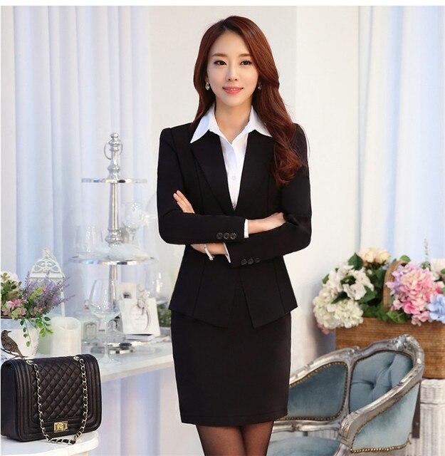 US $53 76 50% OFF 2018 bank uniformen lobby manager overalls financiële  verzekering leidinggevenden carrière pak vrouwen vallen en winter in 2018  bank