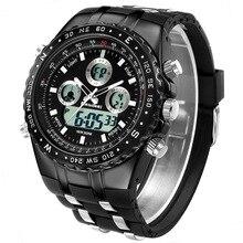 ساعات يد للرجال من أفضل الماركات الفاخرة من المطاط الأسود ساعات يد كوارتز للرجال مزودة بإضاءة Led ساعة يد رياضية رقمية غير رسمية