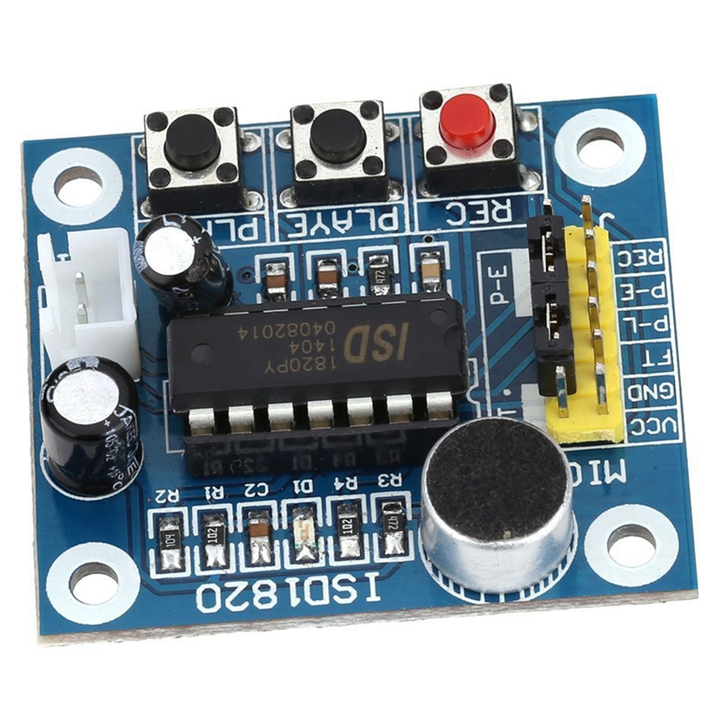 ISD1820 Sound Voice Recording Playback module with mini - sound audio speakers REC button RLAYE keys With looping, jog playback