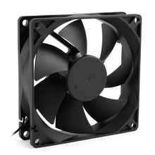 92mm x 25mm 24V 2Pin Sleeve Bearing Cooling Fan for PC Case CPU Cooler цена