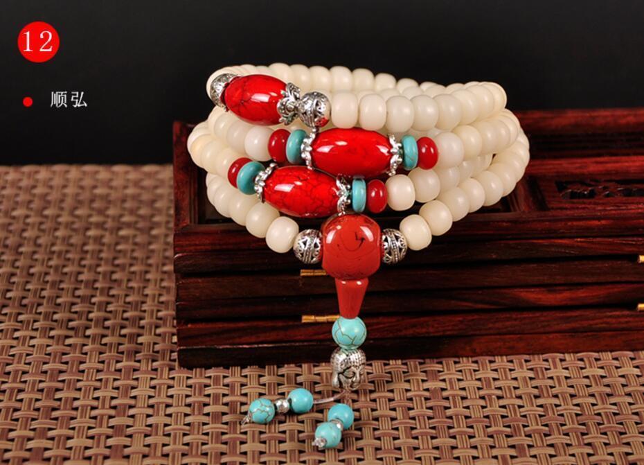 8mm108 Buddhist Prayer Bracelet Bodhi Root Pray Beads Hand Catenary Necklace8mm108 Buddhist Prayer Bracelet Bodhi Root Pray Beads Hand Catenary Necklace