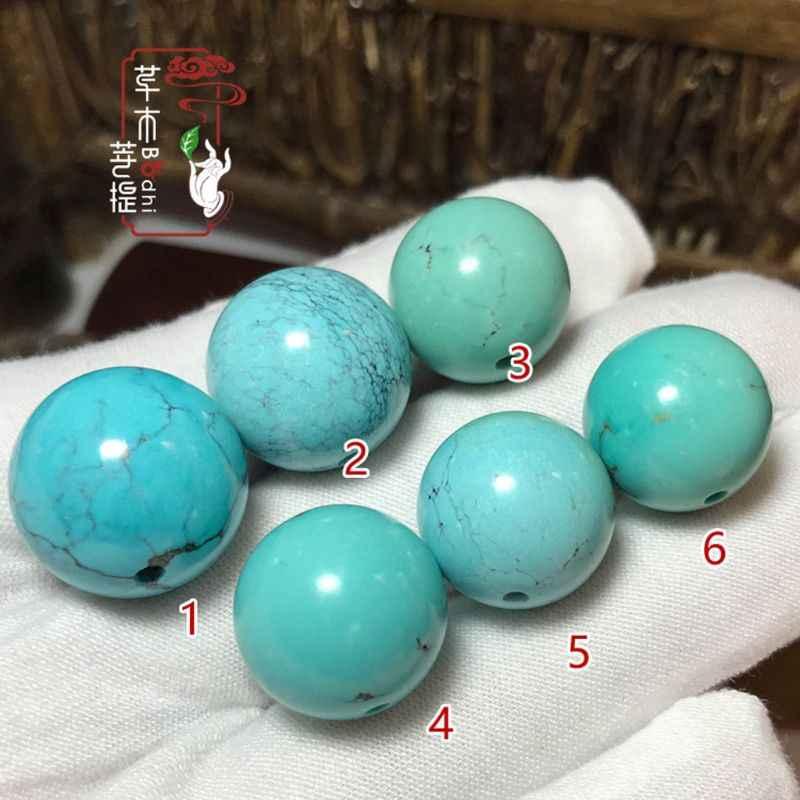 Liscio Naturale di Pietra Blu Verde Turchesi Rotonda Branelli Allentati Per Monili Che Fanno