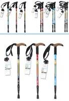 61cm to 135cm Alpenstock Super Light Straight Handle Carbon Fiber Walking Stick CANE Telescopic Hiking Nordic Trekking Poles