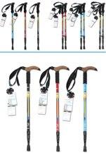Big sale 61cm to 135cm Alpenstock Super Light Straight Handle Carbon Fiber Walking Stick CANE Telescopic Hiking Nordic Trekking Poles