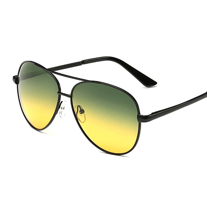 Day Night Vision drive Sluneční brýle Polarized pilot Men Polaroid Driving Sun Brýle Men Fashion Brýle retro de sol feminino