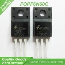 10 шт. бесплатная доставка 6N60 FQPF6N60C 6N60C MOSFET 600 В 6А N-канальный транзистор TO-220F новый оригинальный