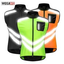 WOSAWE 반사 형 오토바이 조끼 모토 크로스 스포츠 팀 유니폼 높은 가시성 안전 조끼 초경량 방수 자켓