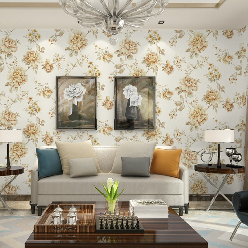 beibehang Retro American pastoral environmental wallpaper deep embossed living room bedroom TV background wall large flower wall beibehang wall paper french pune cozy flower garden bedroom living room tv background wallpaper shop for environmental non wove