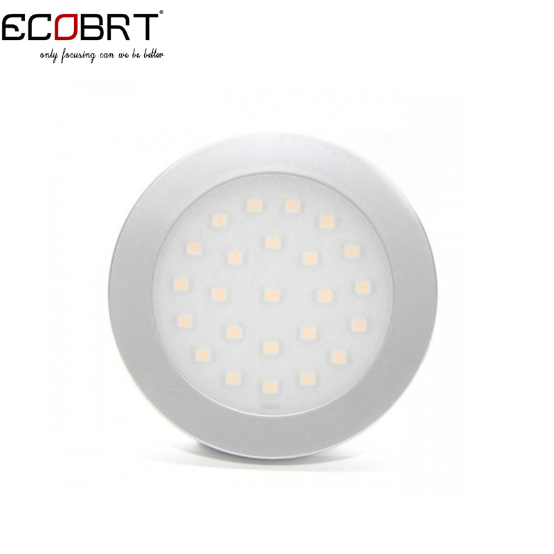 New smd3528 aluminum 12v Led Round Surface Puck lights in Showcase as Under Cabinet Spotlights Lamps 2w 6pcs/lot