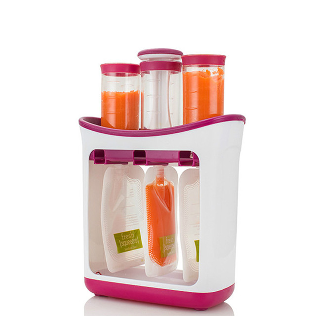Baby Food Maker Food Squeeze Station Infant Feeding Containers Storage Baby Fruit Puree Packing Machine Toddler Solid Juice Make 1