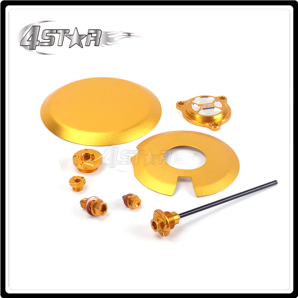 Motorcycle Gold CNC Aluminum Engine Side Cover Bolt Timing Oil Filter Cap Oil Screw Drain Oil Dipstick For SUZUKI DRZ400 00-15 racing new oil cap engine cover fuel for mitsubishi evo