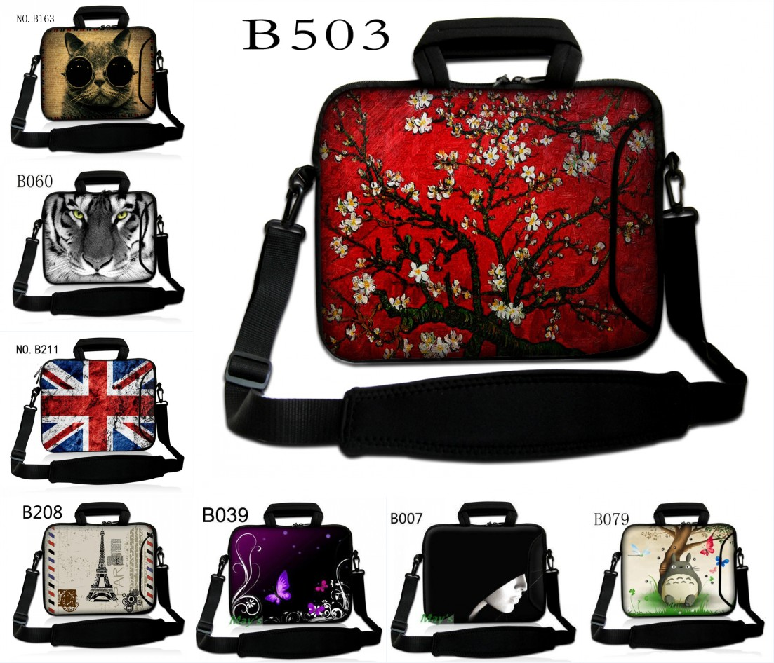 "Hot Designs 15"" 15.6"" Laptop Shoulder Bag Case For Dell Inspiron / Acer Aspire HP"