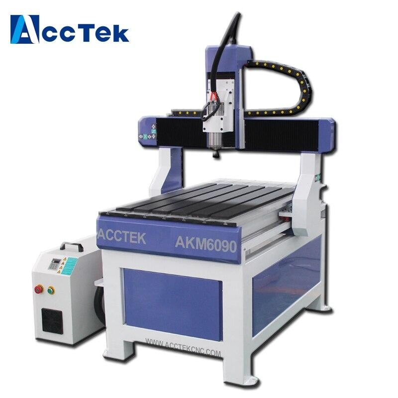 Axe de refroidissement par eau moteur pas à pas 6090 CNC routeur/5 axes CNC routeur/CNC routeur 4 axes