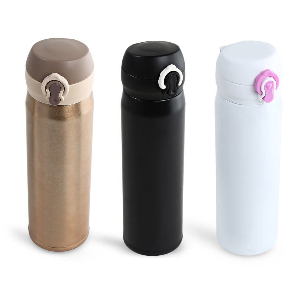 500ml Stainless Steel Thermos Bottle With 3 Colors Thermo Mug Water Bottle Kitchen Vacuum Flasks Insulated