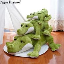 Cartoon Large Green Crocodile Cushion Stuffed Plush Toy Soft Big Crocodiles Sleeping Pillows Kids Adult Toys 3 Size