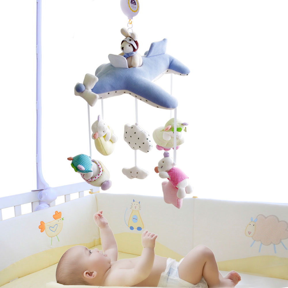 SHILOH Crib Stroller toy Crib mobile Baby Plush Doll Infant Children Newborn Boy Girl Gift with 60 songs Musical Box Holder Arm shiloh crib stroller toy crib mobile baby plush doll infant children newborn boy girl gift with 60 songs musical box holder arm