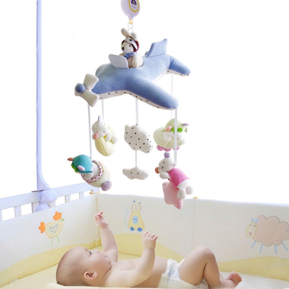 SHILOH Krippe Kinderwagen spielzeug Krippe mobil Baby Plüschpuppe Säuglings Kinder neugeborenen Jungen Mädchen Geschenk mit 60 songs Musical Box Halter Arm