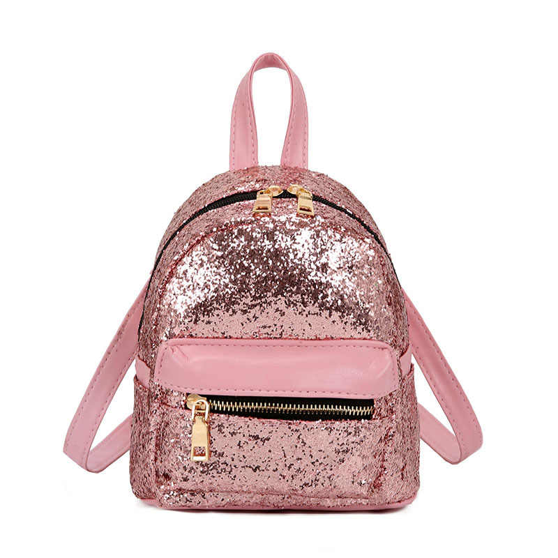 ... Cute Korean Mini Backpacks for Little Girls PU Leather Fashion Women  Daypack Sequins Glitter Bling Shiny ... 5b7d89ca6fa4