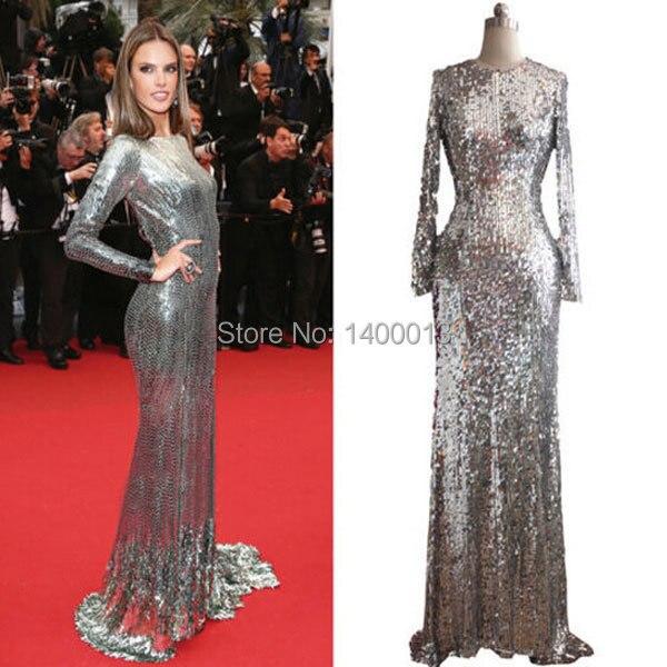 Long gold sequin dress ebay
