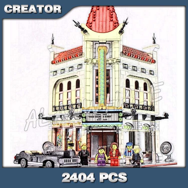 2404PCS Creator Palace Cinema Street City Modular House Model Building Blocks 15006 Assemble Toys Compatible With