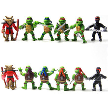 Free Shipping   6pcs/lot PVC Teenage Mutant Ninja Turtles TMNT Action Figures Toys Classic Collection For Kids Children Gift