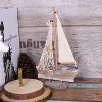 Wooden Mediterranean Sea Star Style Sailing Boat Net Vintage Fish Boat M Size Boat Wooden Craft
