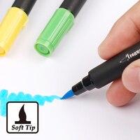12/24/36 Colores de Arte Gráfico y Dibujar Manga Cepillo de Doble Punta y Fino Dibujo Pen Brush Art Marcador de Punta Doble Color marcador