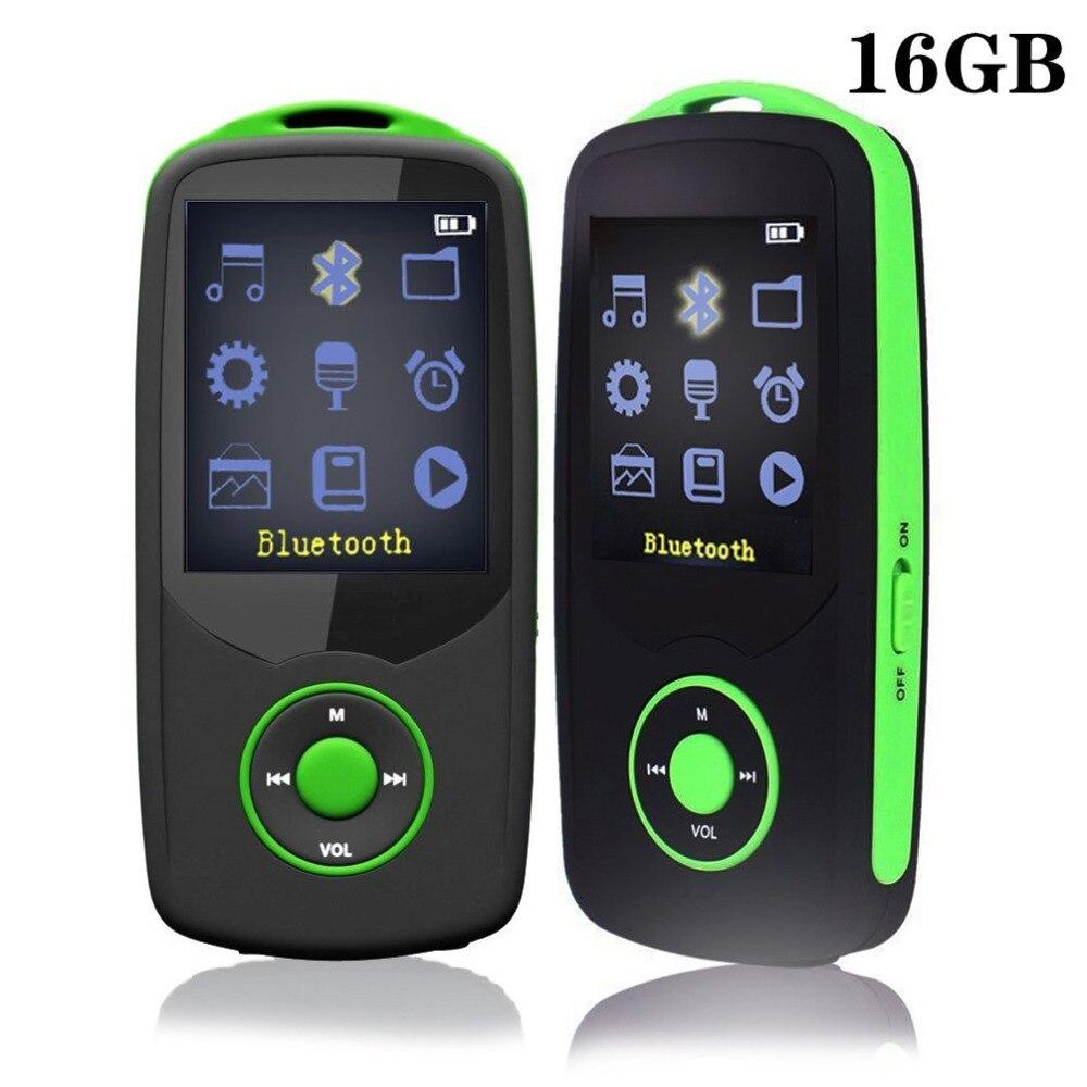 16GB Bluetooth MP3 Player RUIZU X06 HIFI MP3 Music Player Sport Wireless Running Max Support 64G TF Card With FM Radio, Recorder