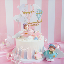 Boy Girl Pilot Decorations Cloud Balls Cake Toppers for Valentines Day Childrens Day Party Birthday Supplies Lovely Gifts
