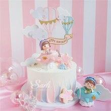 Erkek kız Pilot süslemeleri bulut topları kek Toppers sevgililer günü için çocuk günü parti doğum günü malzemeleri güzel hediyeler