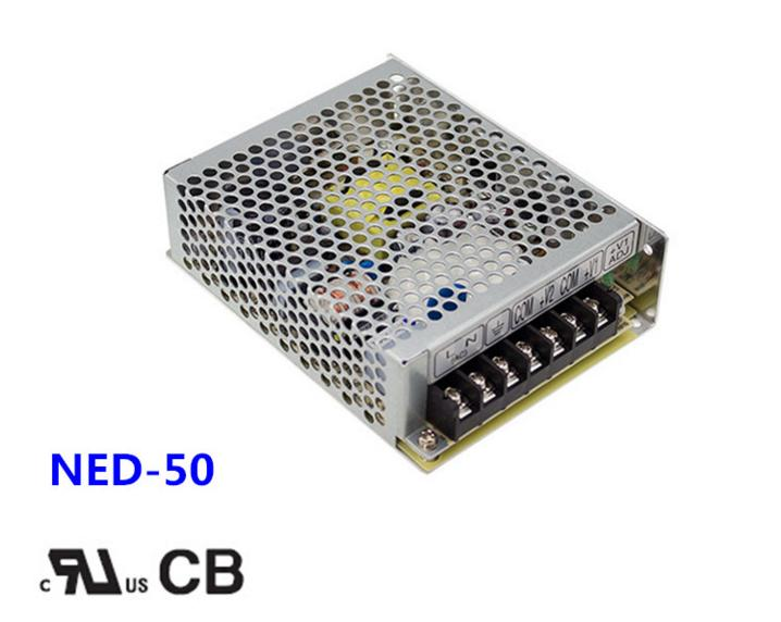 Free shipping 1pc  NED-50A 54w 5v  6A Double Group Output Switch Power meanwell double group output switch power ned 100 a 2 years warranty new original