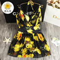 STAR MENG 2016 new bodysuit pattern dress Ladies' sexy girl bathing suit swimwear women gather one piece swimsuit monokini