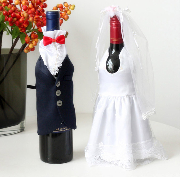 European Style Wedding Dress Wine Bottle Bag Covers Unique Crafts Decoration Gifts On Aliexpress