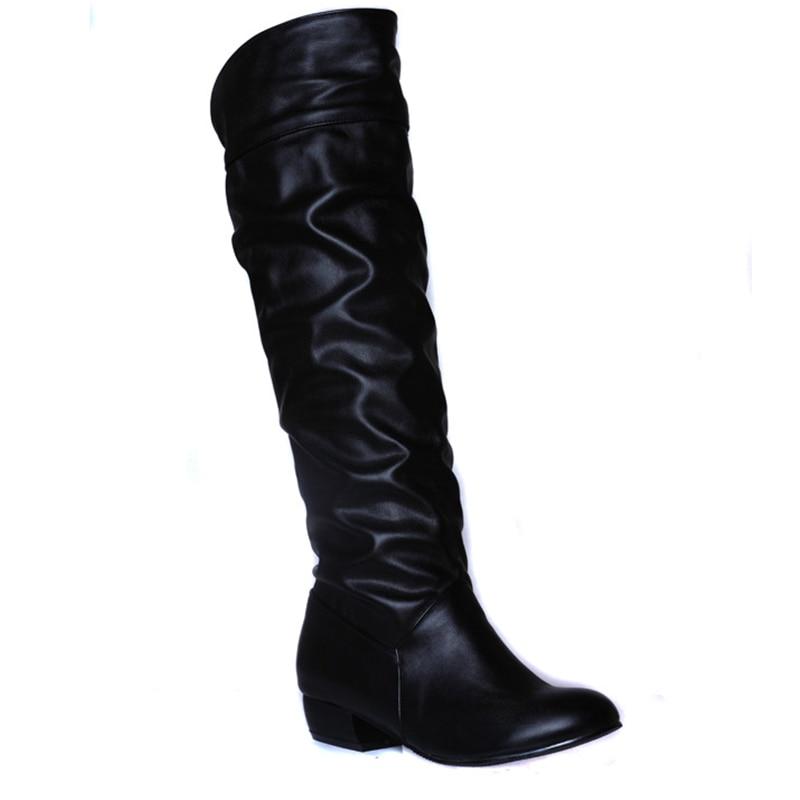 Slim Sexy over the knee high women font b snow b font font b boots b