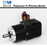 Planetary reduction gearbox ratio 30:1 with nema 17 30W 24V bldc motor gear brushless dc motor
