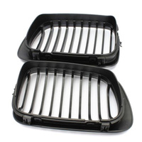 2PCS New Black Kidney Sport Grilles Gril for BMW E46 Coupe 2 Door 1999 2002 Pre Facelift Accessories Parts Car styling use