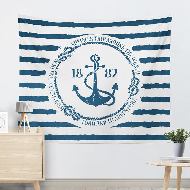 Marine Style Striped Wall Tapestry 2