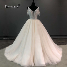 yiwumensa Short Sleeves Wedding Dress Ball Gown