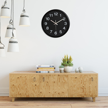 Creative Silent Quartz Hanging Wall Clock Living Room Simple Modern Design 12 Inch Metal Decorative Clocks Home Wall Decor Watch