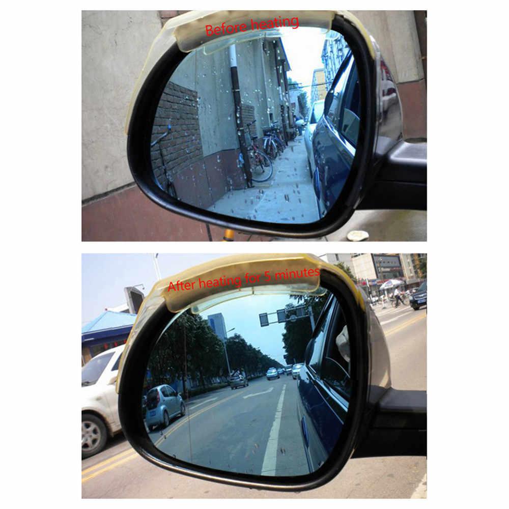 2pcs DC 12V 24VCar Rear-view Mirror Glass Heated Pad Defrosting Plates Rain-proof Retroreflector Heating Film Car Accessories