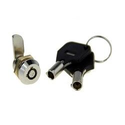 2 sztuk Mini zamki camlock szuflady rurowy zamki szafek 10mm gwint skrzynki pocztowej szafka meble bezpieczeństwa zamki klucze w Zamki do szafek od Majsterkowanie na