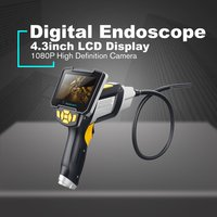 Waterproof Snake Scope Endoscope inskam112 Probe Inspection HD Camera Handheld Boroscope 5m Rigid Cable Digital 1080P LCD 8mm