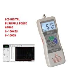 Wysoka precyzja cyfrowy wyświetlacz LCD DS2-500N Push siłomierz Push 500N 50KGS Pull Tester wytrzymałości na mały czujnik hamulca dynamometrycznego