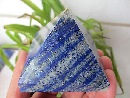 NATURAL PRETTY LAPIS LAZULI crystal PYRAMIDNATURAL PRETTY LAPIS LAZULI crystal PYRAMID
