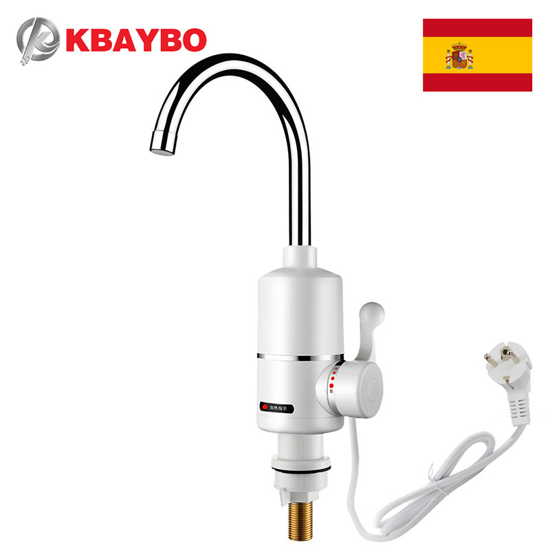 Tankless Water Heater Electric Shower Instant Heating Kitchen Bathroom Hot Heaters 3000W