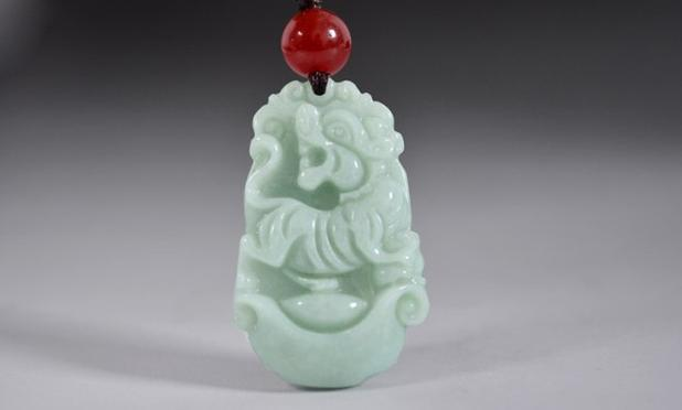 The Burmese stone zodiac tiger pendant